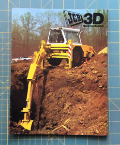 JCB 3D Backhoe Loader Brochure, Perfect Condition,