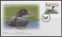 CANADA #1687 WILDLIFE DEFINITIVES LOON FIRST DAY COVER
