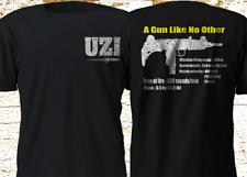 New UZI submachine Gun Israel Firearm Black T Shirt S 4XL