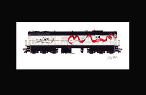"Dakota Southern SD9 11""x17"" Matted Print Andy Fletcher signed"