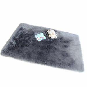 Furry Wool Area Rug Fluffy Faux Fur Sheepskin Rugs Fuzzy Bedroom Floor Carpet