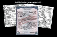 Black Buffalo Soldiers 3 DEATH CERTIFICATES,Indian Wars,9th,10th US Cavalry Hero