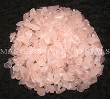 2000 x Rose Quartz Mini Chip Tumblestones 3mm-5mm Crystal Gemstone Wholesale