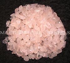 2000 x Rose Quartz Mini Chip Tumblestones 3mm-5mm Crystal Gemstone Wholesale