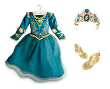 NEW Disney Store Princess Merida Costume Dress Set w/ Shoes, Tiara - Girls 9-10