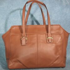 Coach F25205 Taylor Leather Alexis Carryall Handbag Saddle Brown EXCELLENT