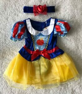 Baby Girls Disney 🍎 Snow White 🍎 2Pce Fancy Dress Up/All In One Costume ~ 6-9m
