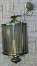 antico lampadario lampione stile classico ottone cristallo ambrato 2 disponibi