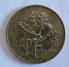 Italien / Italia / Italy - 20 Lire 1958 R Aluminium-Bronze - vz / xf erhalten