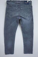 JAA383 Men Jacob Cohen Silver Plated Italian Grey Slim Fit Jeans Size W34 L30