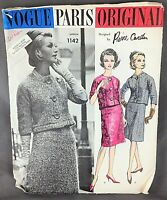 Vintage Vogue Paris Original Design Sewing Pattern #1142 Pierre Cardin Suit