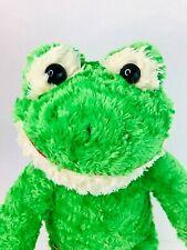"Build a Bear Workshop Green Fluffy Frog 18"" Large Soft Plush Toy 2010"