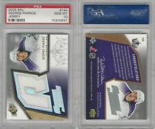 2005 Upper Deck SPX Hockey, #144 George Parros Jersey, Kings, PSA 10 Gem