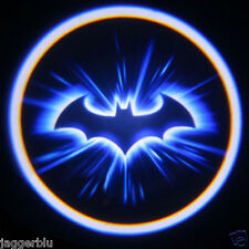 2 x 3D PORTA BAT LOGO LED Luce di Cortesia Proiettore Laser Ghost Shadow Lite BATMAN