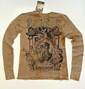 NWT Affliction Distressed Crew Neck Long sleeves Vintage T-shirt