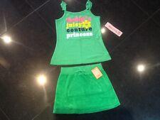 NUEVO CON ETIQUETA JUICY COUTURE Auténtico niña Edad 8 Verde Falda de algodón &