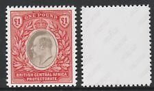 Nyasaland (727) 1903 KE7 BCA £1 -  a Maryland FORGERY unused