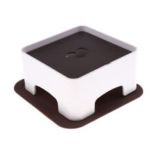 Elevated Pet Dog Puppy Food Water Bowl Stand Support with Silicone Mat