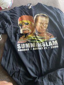 WWE Vintage Summerslam 2005 Shirt Hulk Hogan Shawn Michaels Black XL
