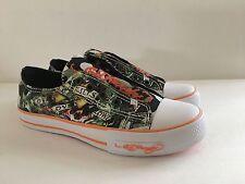 Kids Ed Hardy Children Shoe Size 3 M Camoflauge Canvas Slip On Sneaker Medium