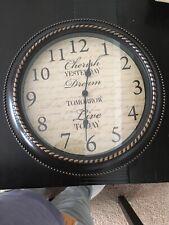 12 inch Classic Clock, Retro Quartz Decorative Battery Operated Wall Clock