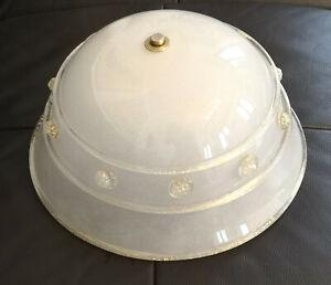 Barovier & Toso Murano Venice vintage art glass modern ceiling lamp Light gold