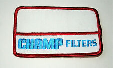 Champ Air Filters Mechanic Name Patch New NOS 1970s Vintage Racing Car