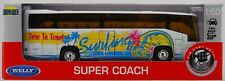WELLY BUS SUPER COACH WHITE 1:64 DIE CAST METAL MODEL NEW IN BOX 18cm LONG