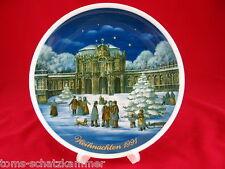 Royal Tettau porcelana navidad 1991 sammelteller limitado plato perrera