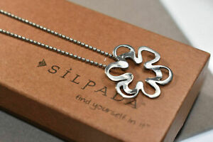 Silpada N1347 Cut Out Flower Necklace 925 Sterling Silver