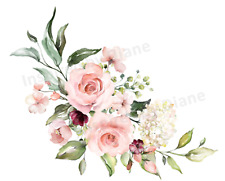 Furniture & Wall Sticker Decals Chic French flowers Image Stickers vintage 436