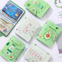 Fruit Avocado PU Leather 20 Bits Card Case Business Card Holder Card Bag J