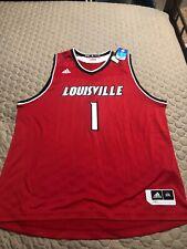 Louisville Cardinals Mens Adidas Basketball Jersey XXL #1 Nwt