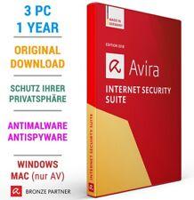 AVIRA INTERNET SECURITY 3 PC 1 Jahr 2019