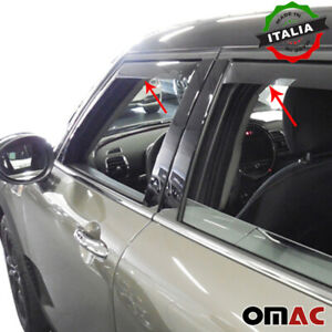 Window Visor Vent Sun Shade Rain Guard 4 pcs For Mini Clubman 2015-2021