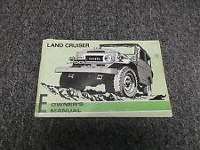 1974 Toyota Land Cruiser Original Owners Manual Book FJ40 FJ45 FJ55 BJ40 HJ45