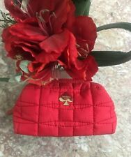 Kate spade Red quilted Nylon cosmetic bag Euc! Msrp $118