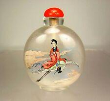 Superb Chinese Inside-Painted Glass Snuff Bottle, Xiwangmu - Circa 1900