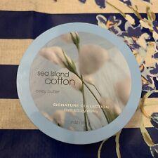 New Bath & Body Works Sea Island Cotton Body Butter Full Size 7 oz 200 g Rare