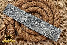 HUNTEX Forged Damascus Steel 25 cm Flame Pattern Blank Blade Billet Knife Making