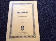Symphony No 5: Edition #402 Eulenburg by Ludwig van Beethoven