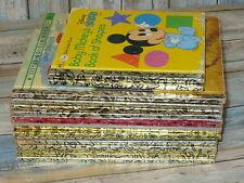 Vintage LITTLE GOLDEN BOOK Books Lot of 18 Disney Old 1940's,50's, 60's & Up