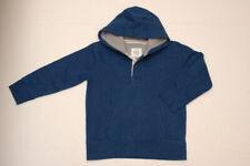 NEW MINI BODEN BOY College Hoodie Sweatshirt Blue Gray 7 8 Yrs NWT
