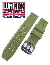LUMINOX EVO 23mm Orologio Cinturino In Gomma In Acciaio Inox PVD nero fibbia verde militare