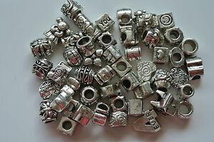 Mix of 20 Tibet Silver Beads Fits European Charm Bracelet