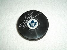 Tiger Williams Hand Signed Toronto Maple Leafs Logo Puck NHL