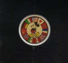 DISNEY PINBACK BUTTON MICKEY MOUSE FLAGS OF THE WORLD MONOGRAM PRODUCTS