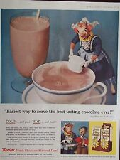 1956 Borden's Dutch Chocolate Drink Elsie The Borden Cow Original Advertisement