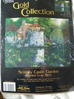 Candamar Designs Gold Coll Counted Cross Stitch Kit Scotney Castle Garden sealed