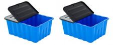 2 x Kunststoffbox Lagerbox Aufbewahrungsbox Regalbox Kiste mit Deckel 48 Liter